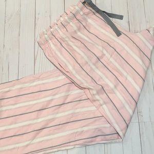 Victoria's Secret Pink Striped Pajama Pants XL